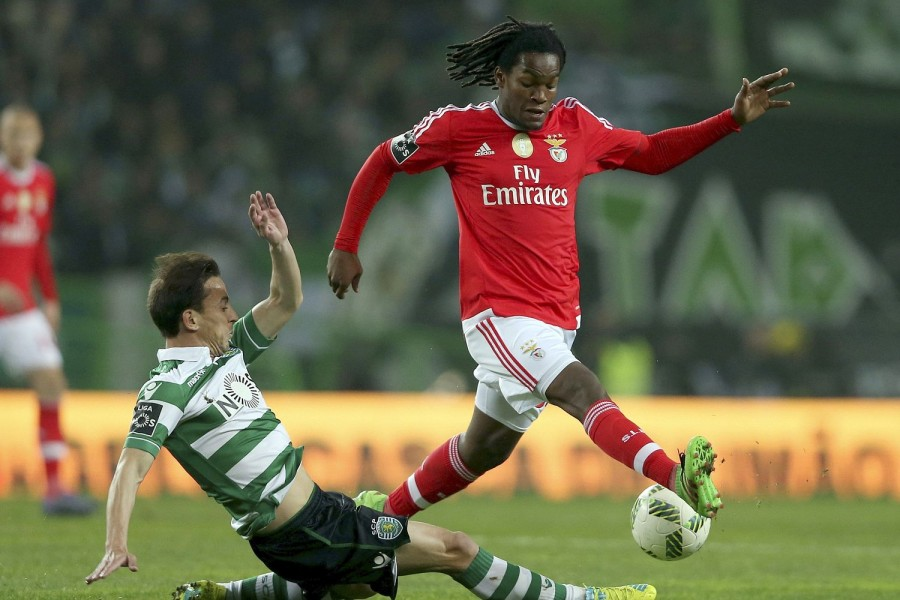 Renato Sanches in action during Benfica's mammoth clash with rivals, Sporting Lisbon