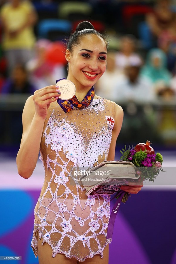 XXX of ZZZ competes in the (discipline & session name) during day nine of the Baku 2015 European Games at the National Gymnastics Arena on June 21, 2015 in Baku, Azerbaijan.