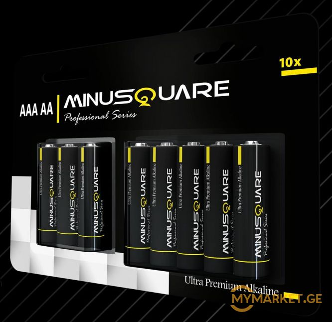 MINUSQUARE ultra premium alkaline battery