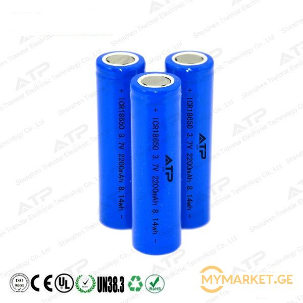 PH icr  18650  3.7V  2200mah Rechargeable Lithium Battery