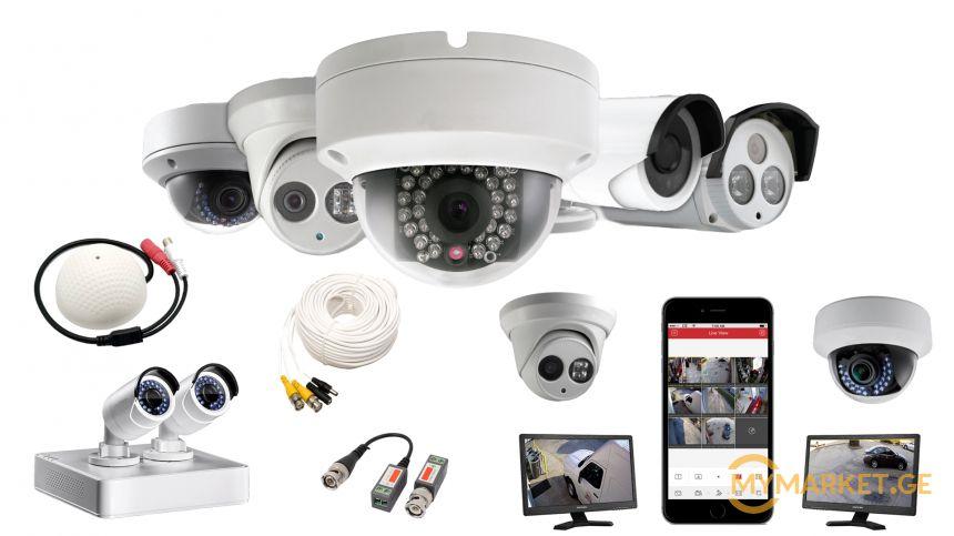 ვიდეო სამეთვალყურეო სისტემები, ip და  ahd კამერები, dvr,nvr