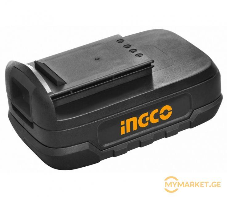 სახრახნისის აკუმულატორი INGCO 18V (SAMSUNG BATTERY) (BATLI18