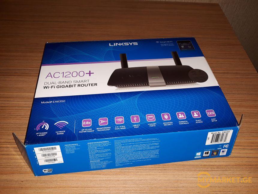 Cisco Linksys EA6350 AC1200 Wi-Fi რაუტერი
