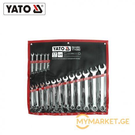 YATO ქანჩის გასაღების ნაკრები gaiCni-nakidnoi 17