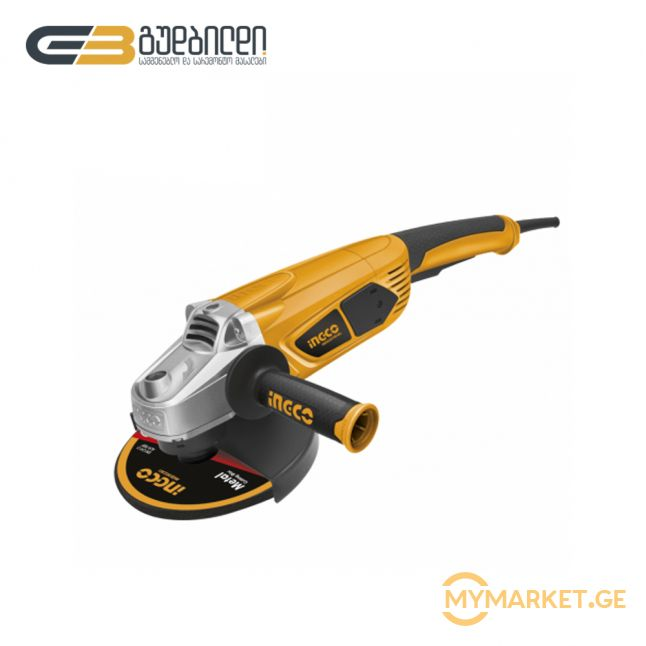 კუთხსახეხი (ბარგალკა) iNGCO 2350W (AG23508)