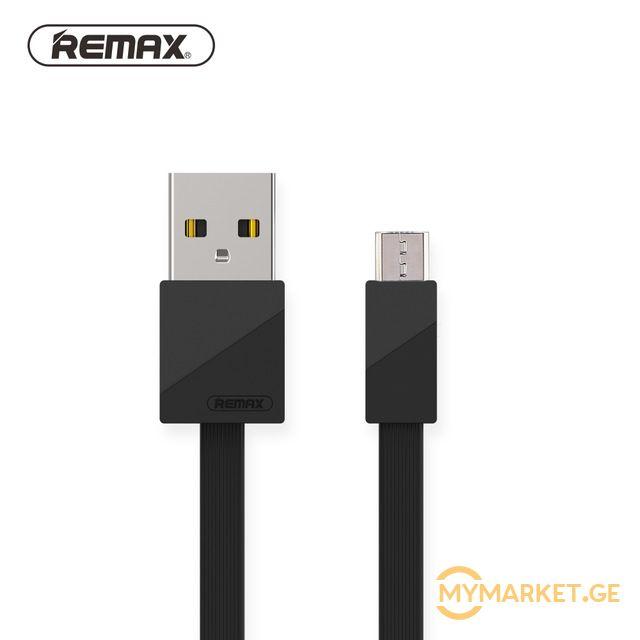 USB კაბელი Remax Blade Data Cable RC-105m Black