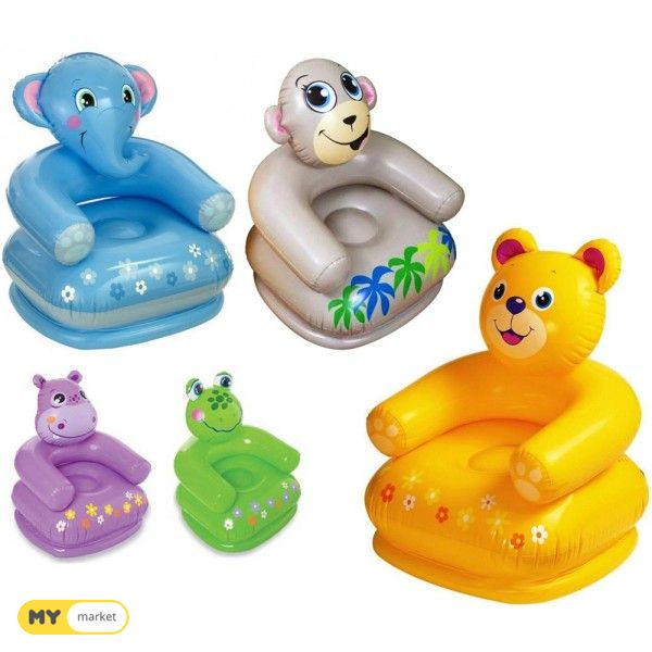 გასაბერი საბავშვო სკამი ცხოველები