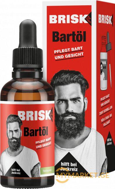 Brisk Bartol წვერის ზეთი 50 მლ
