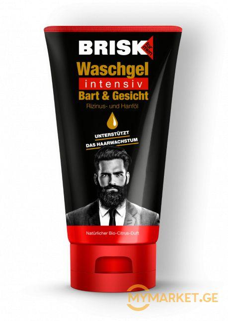 Brisk Waschgel Intensiv წვერისა და სახის სარეცხი გელი 150 მლ