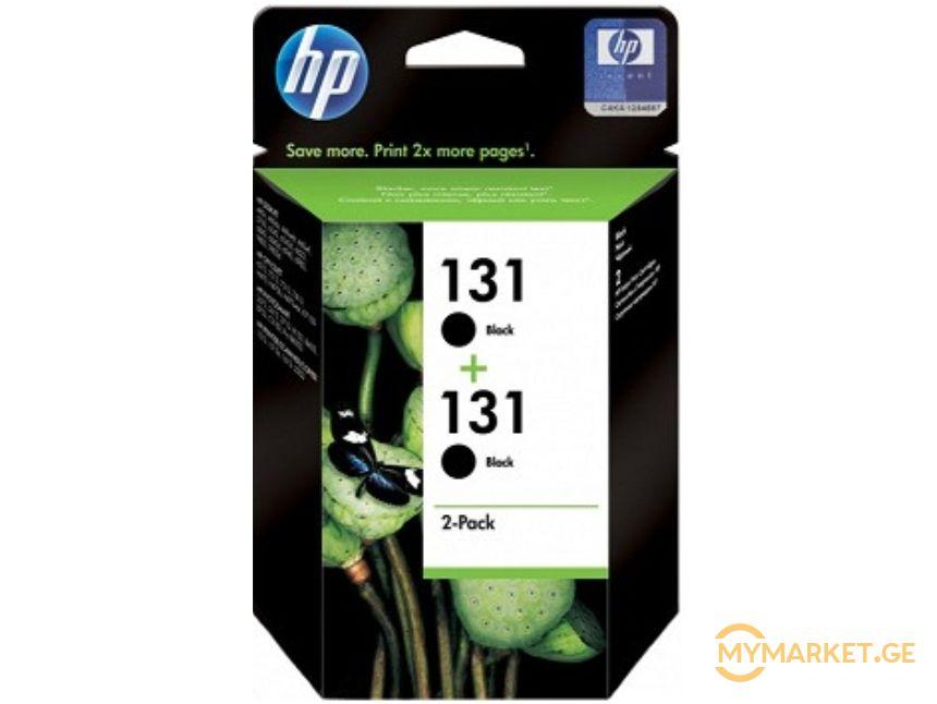 HP CB331HE  131 Black Print Crtg, Twin Pack