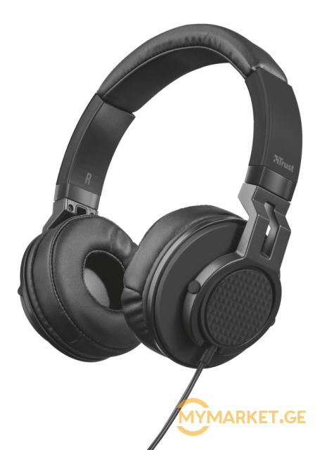 ყურსასმენი  TRUST DJ-500PRO DJ HEADPHONE ,Detachable 1.2m ca