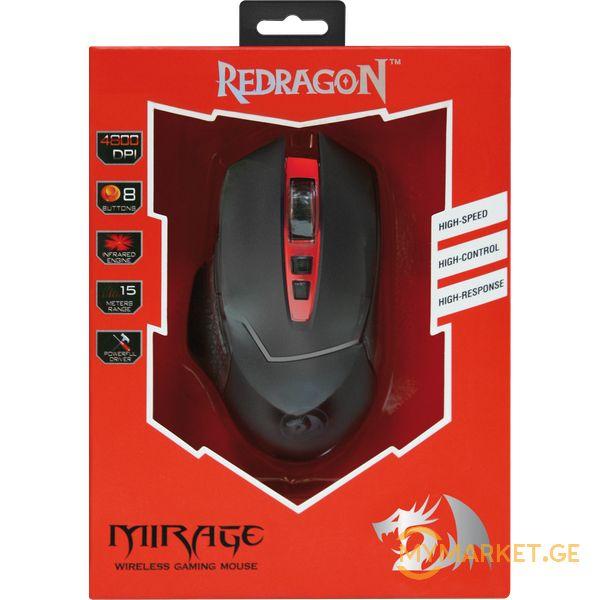 ''''აქცია''' ახალი უკაბელო GAMING მაუსი Redragon Mirage