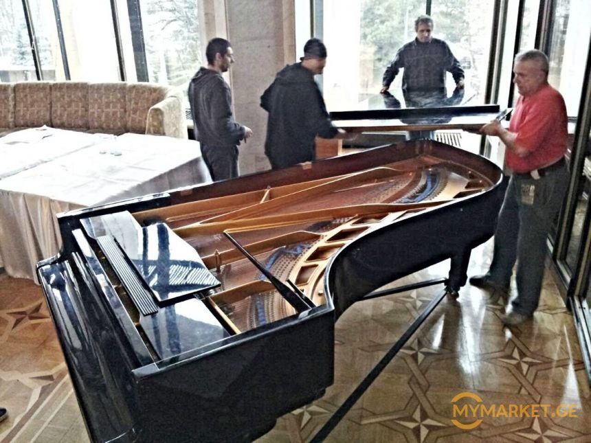 პიანინოს და როიალის გადაზიდვა