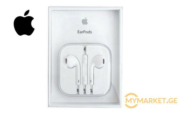 39 ლარად EarPods Iphone ორიგინალი ყურსასმენები უფასო მიტანით