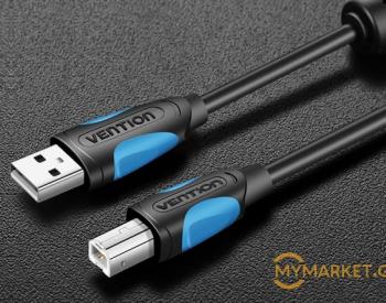 კაბელი VENTION VAS-A16-B1000 USB2.0 A Male to B Male Print C