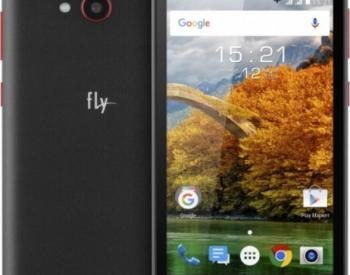 მობილური ტელეფონი FLY FS458 BLACK Sim 2  ეკრანი 4.5 (854 x 4