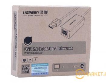 USB ქსელის ადაპტერი Ugreen CR110 USB To Lan adaptor 10/100 M