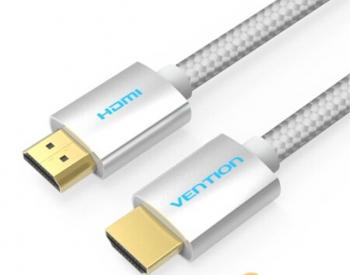 HDMI კაბელი VENTION AABIK Cotton Braided HDMI Cable 8M Silve