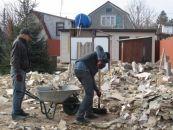 სამშენებლო ნარჩენების ( ნაგვის) გატანა დასუფთავება