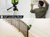 Huepar 2x360° ლაზერული თარაზო მწვანე ნათებით