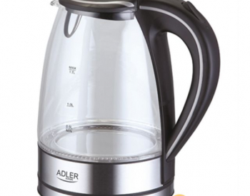 Adler AD 1225 Stainless steel/Glass, 2000 W, Yes