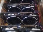 13 დედაპლატა. RX 570 ARMOR 8 G OC.  თითო 400 ლარი.