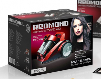 მტვერსასრუტი Redmond RV-C316-E Red Bagless Dual Cyclonic HEP