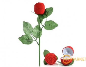 სასაჩუქრე წითელი ვარდის ბეჭდის ჩასადები უფასო მიტანით