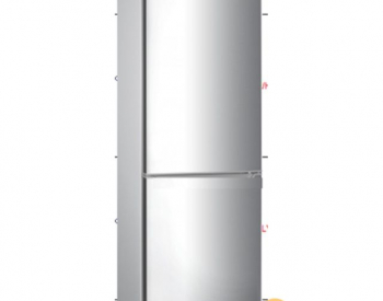 Midea Refrigerator  HD-346RN(S), Silver, A++ , 260L(R189, F: