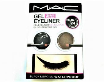 MAC 2in1 თვალის ლაინერი (შავი/ყავისფერი) 25 ლარად