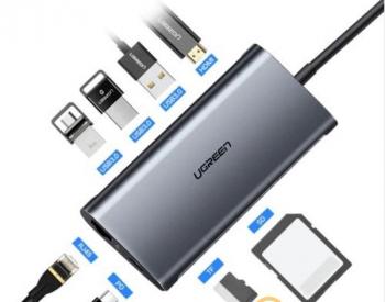 USB დამაგძელებელი Ugreen US129 USB 3.0 A male to female flat