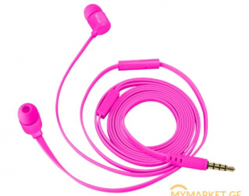 ყურსასმენი  TRUST DUGA IN-EAR HEADPHONES - NEON PINK