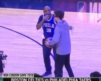 მოტყუებული გულშემატკივარი NBA-ს მატჩზე ლონდონში (ვიდეო)