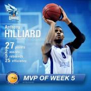მეხუთე ტურის MVP ენტონი ჰილარდი გახდა